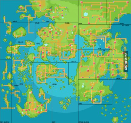 Pokemon World Map Double Jump