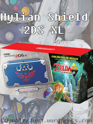 2DS XL Designs | Hylian Shield 2DS XL | Video Games | Gaming | Nintendo | DoublexJump.com